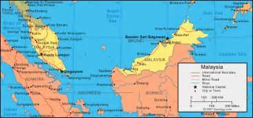 World Map Malaysia by Malaysia Map And Satellite Image
