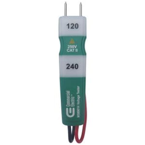 Home Depot Electrical Tester by Commercial Electric 120 240 Vac Voltage Tester Ms8901h The Home Depot