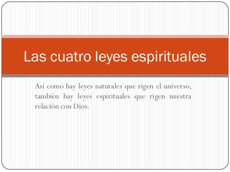 imagenes 4 leyes espirituales las cuatro leyes espirituales