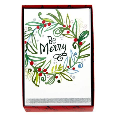 Walmart Ca Gift Card Online - hallmark be merry wreath boxed cards walmart exclusive walmart ca