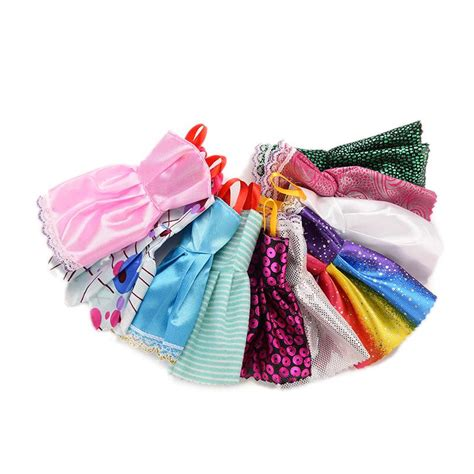 10x Kid Mini Dress Dolls Fashion Clothes Mixed Style For Pa popular mini doll clothes buy cheap mini doll clothes lots