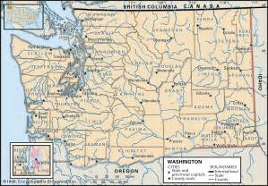 state of map with counties and cities washington state map kent