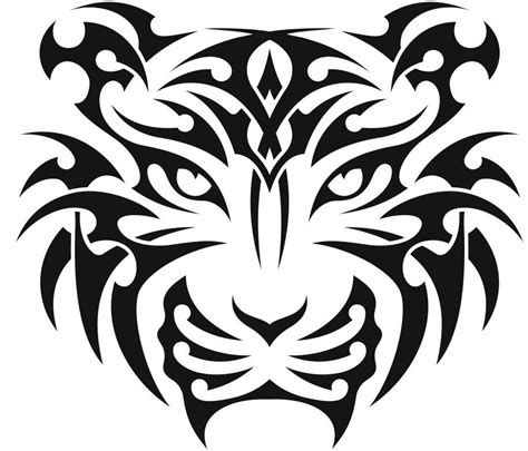 tribal tiger head tattoo tribal tiger