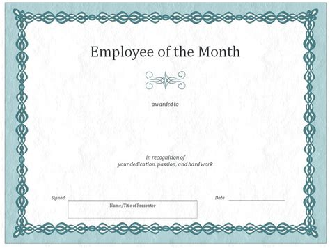 employee of the month certificate template with picture employee of the month certificate template with picture