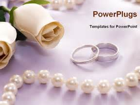 powerpoint wedding templates wedding rings with flower and perl necklace powerpoint