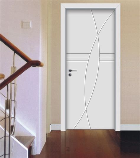 white minimalist room door for villa 3d house