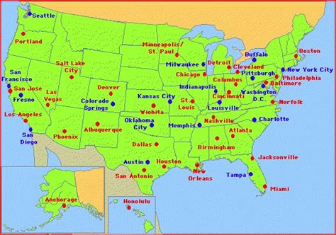 map of american cities usa toward a 21st century new deal for transport