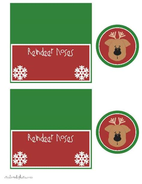 printable reindeer noses labels printable noses images