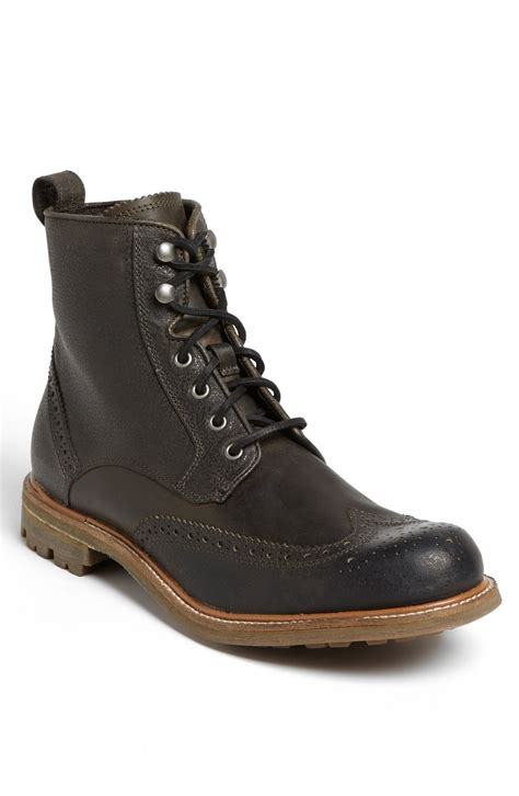 varvatos boots varvatos townshend wingtip boot in brown for