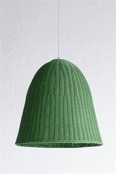 green pendant l shade large rattan pendant light shade moss green the family