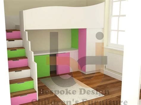 High Sleeper Beds by Stripe High Sleeper Bed With Storage Stairs And