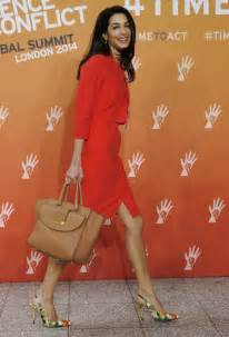 Barrister amal alamuddin fiancee of actor george clooney attends a