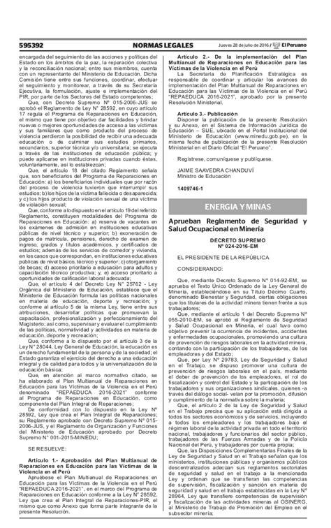 decreto supremo n 010 2015 minedu modifica el reglamento decreto supremo n 005 2016 tr norma diario d s 005 2017