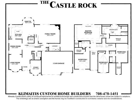 castle rock floor plans the castel rock model klimaitis builders kci