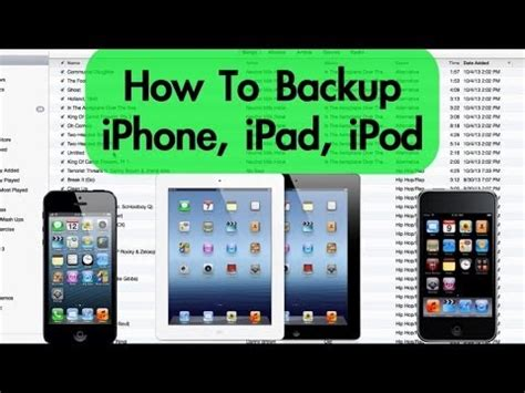 iphone backup how to backup iphone ipod with itunes pc mac