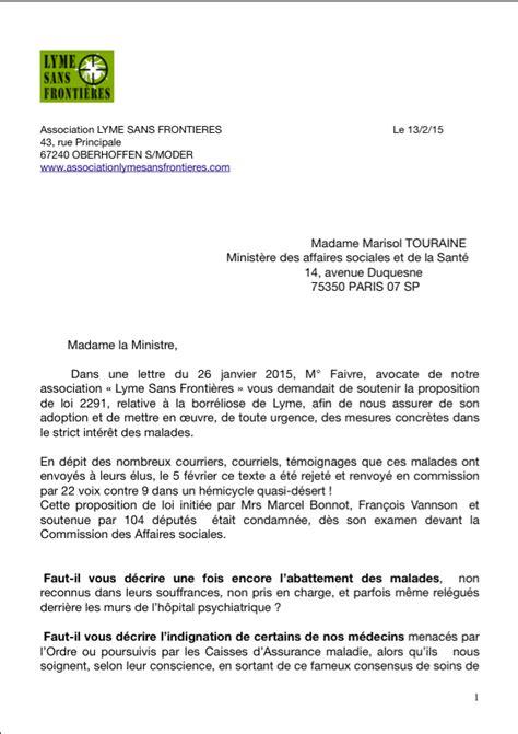 lettre de lsf 224 la ministre sur le rejet de la proposition 2291 r b l f cimt