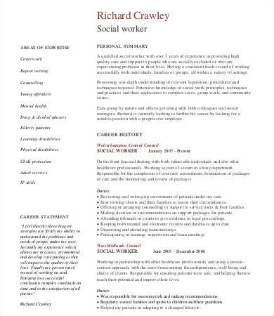 Resume For Social Worker by 10 Social Work Resume Templates Pdf Doc Free