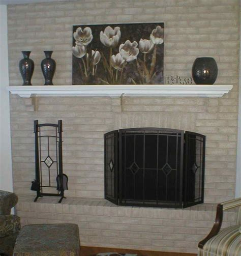 Tips For Painting Brick Fireplace by Painted Brick Fireplace