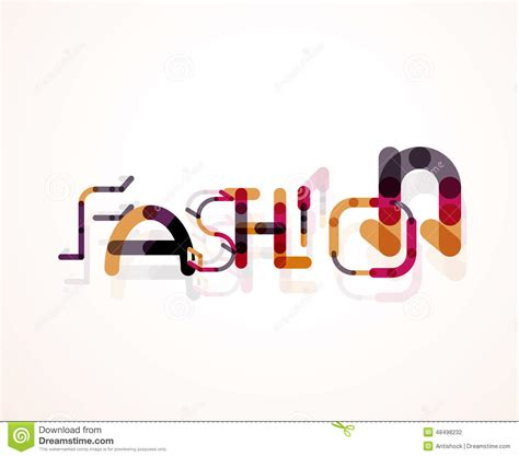 design fashion word fashion word font concept stock vector image 48498232