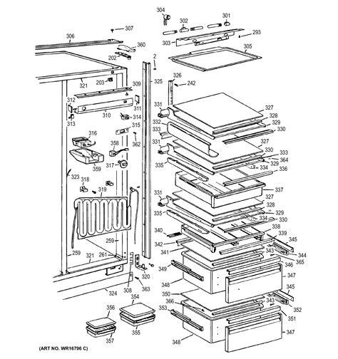 refrigerator components diagram wiring diagram with