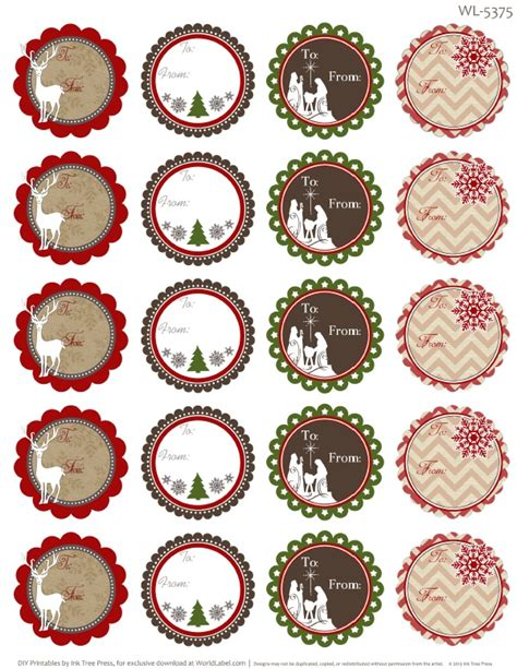 free printable round christmas tags treetop glisten free christmas labels digital