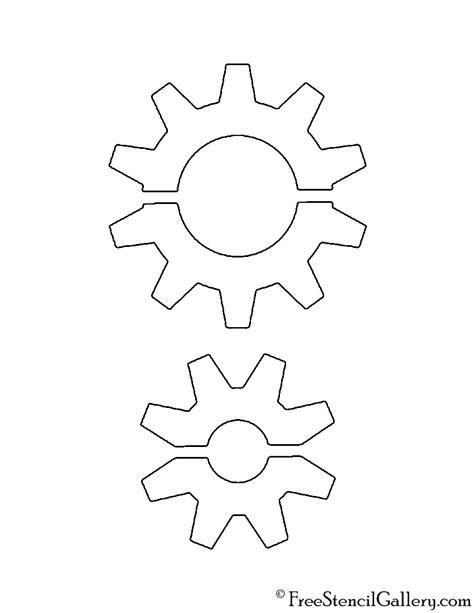 printable gear stencils gears stencil free stencil gallery