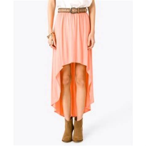 53 forever 21 dresses skirts coral high low skirt