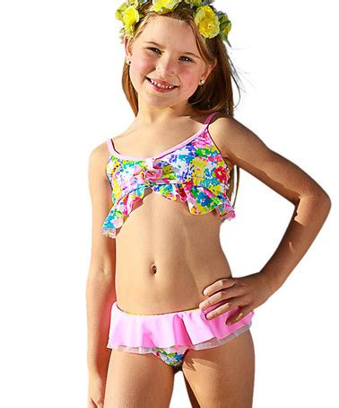 zulily little girls swimwear another great find on zulily pink monet bikini toddler