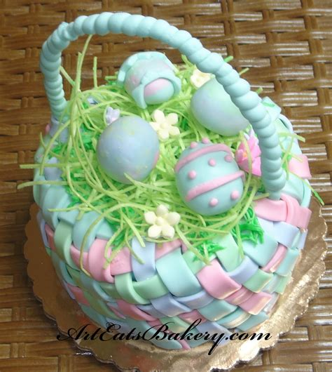 fondant easter cakes by art eats bakery arteatsbakery