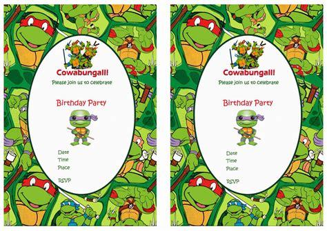 free printable birthday invitations ninja turtles teenage mutant ninja turtles birthday invitations