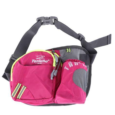 Murah Sweatproof Sport Waist Belt Bag Pouch For Running sport running water bottle waist belt bum bag pack hiking marathon pouch