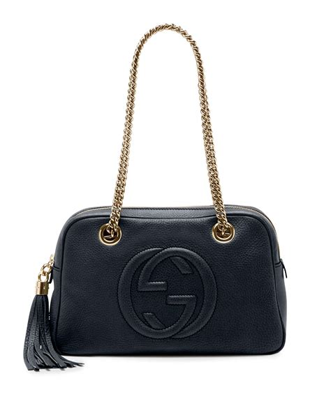 Gucci Soho Leather Backpack Ss17 18 gucci soho patent leather chain shoulder bag in black lyst