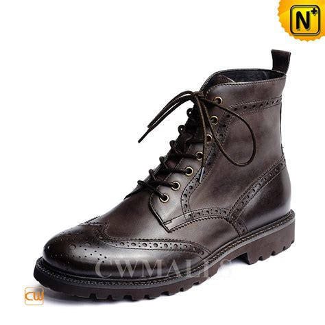 mens brouge boots cwmalls 174 leather wingtip brogue dress boots cw726510