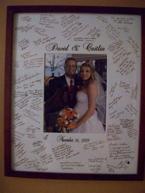 picture frame alternatives wedding guest book alternative signature picture frame