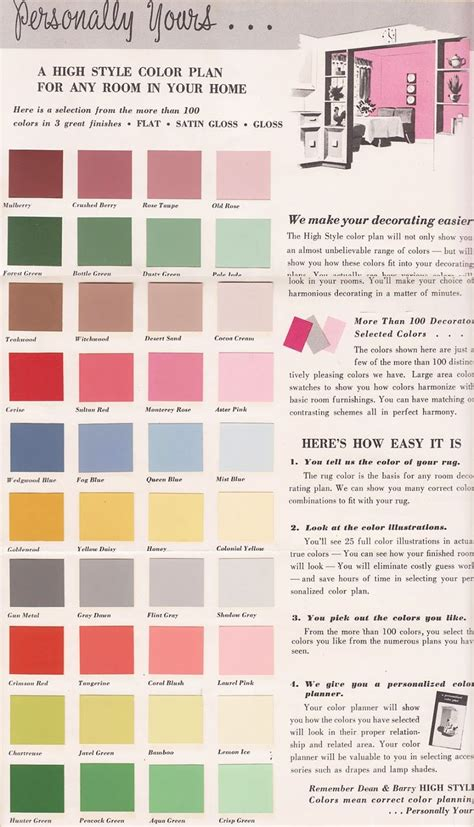 17 best images about vintage color palettes on