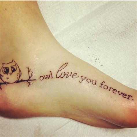 forever love tattoos designs owl quote you forever i tattoos