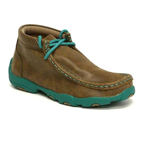 twisted x shoes twisted x kid s driving mocs brown turquoise shoes