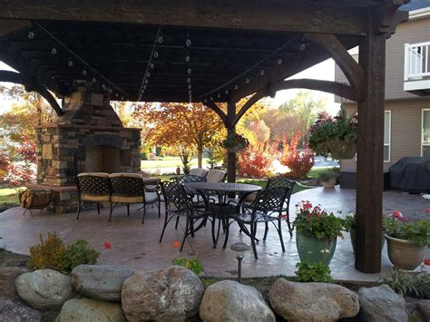add element of with outdoor fireplace diy pergola