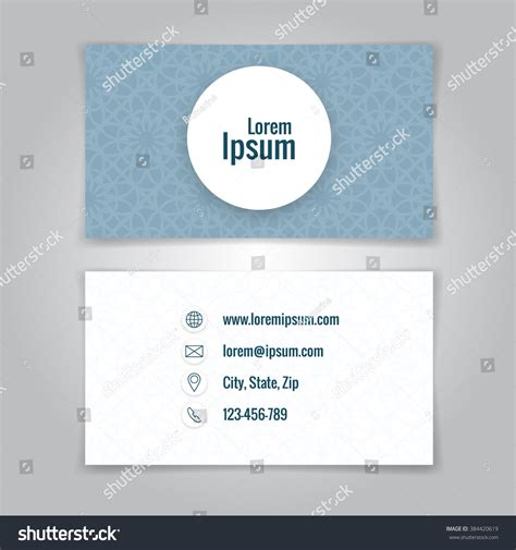 Business Card Stock Template by Modern Simple Business Card Template Card Stock