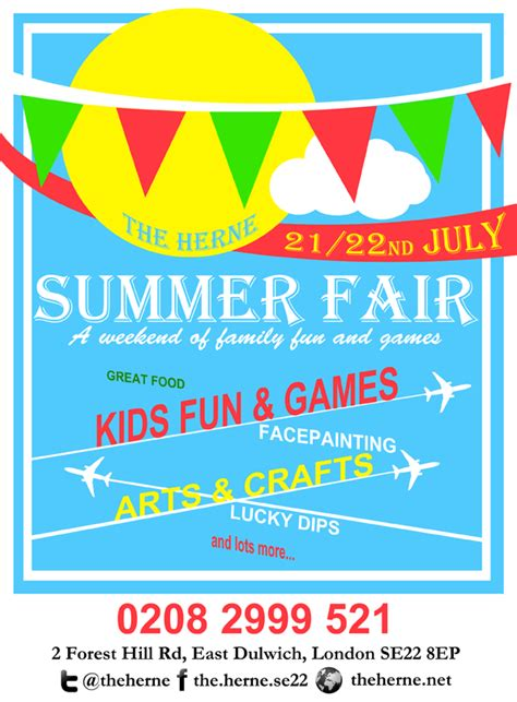 fair flyer template free herne summer fair around dulwich