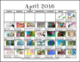 Calendar Play April Activities For Free Monthly Play Calendar