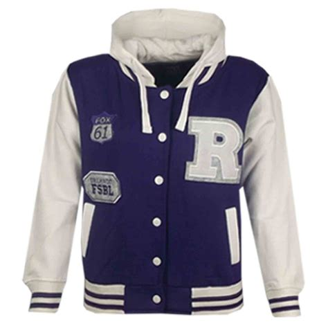 Hoodiejaket Sweater Fox boys r fashion nyc fox baseball hooded jacket varsity hoodie 2 13 yrs ebay