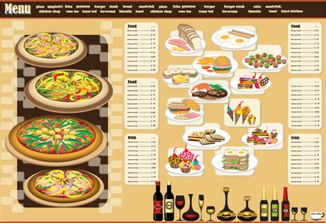 Design Menu Cafe Vector | restaurant menu design 03 vector free vector 4vector