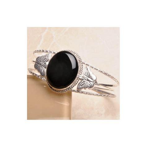 Gelang Wide Black gelang batu onyx untuk fashion style kawula muda