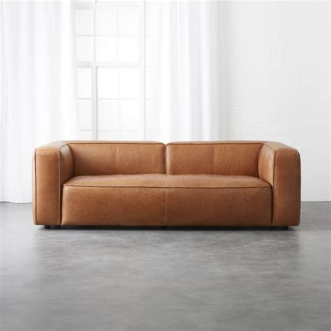 Brown Leather Modern Sofa Teachfamilies Org Brown Modern Sofa