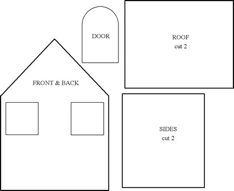 printable house template for best photos of gingerbread house templates printable