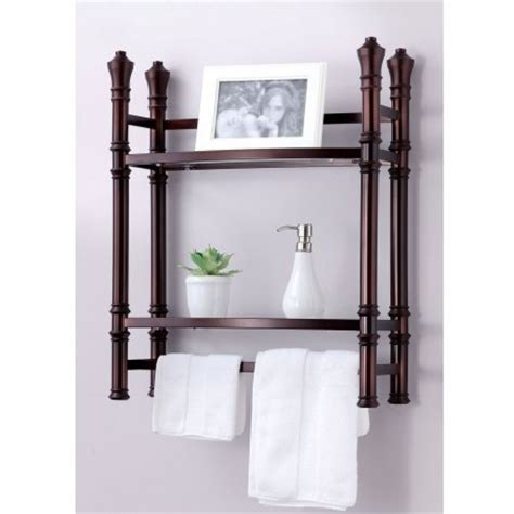 Towel Bar Bathroom Wall Mount Storage Organizer Rack Glass Decorative Bathroom Wall Shelves