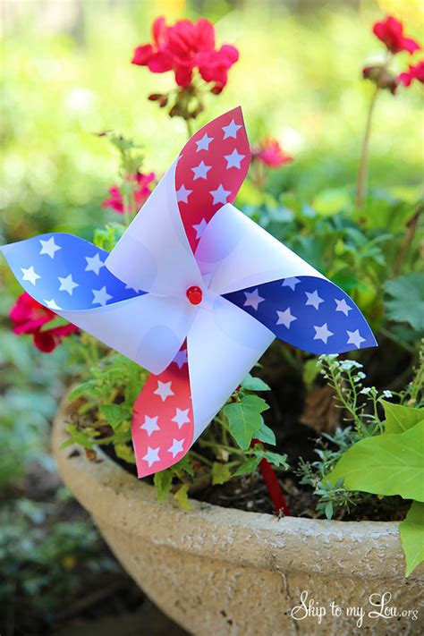 printable fourth  july pinwheels skip   lou