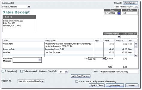 how to change sales receipt template in quickbooks use tax in quickbooks it s your money