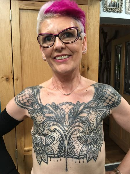 woman celebrates five years in remission with tattoo over